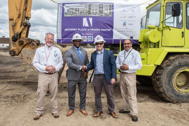 Groundbreaking Ceremony for Anthony Place at Prairie Centre